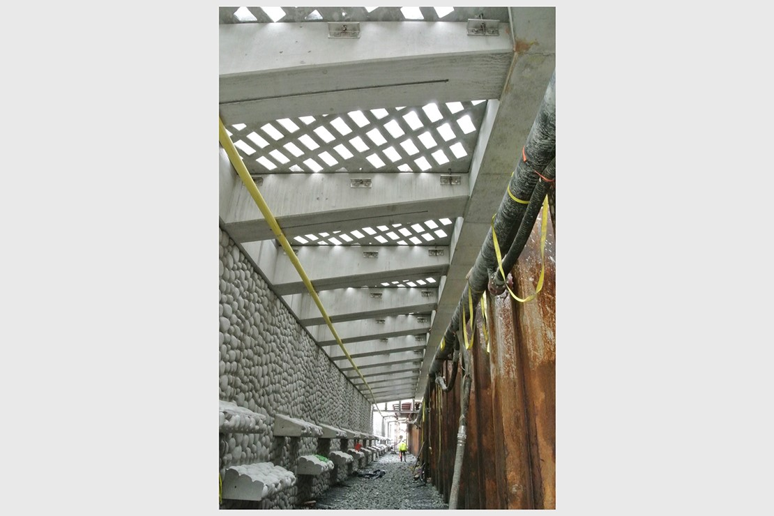 Photo shows the light penetrating surface from below, letting lots of light through to the zee panels.