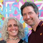 Laura Haddad and Tom Drugan headshots