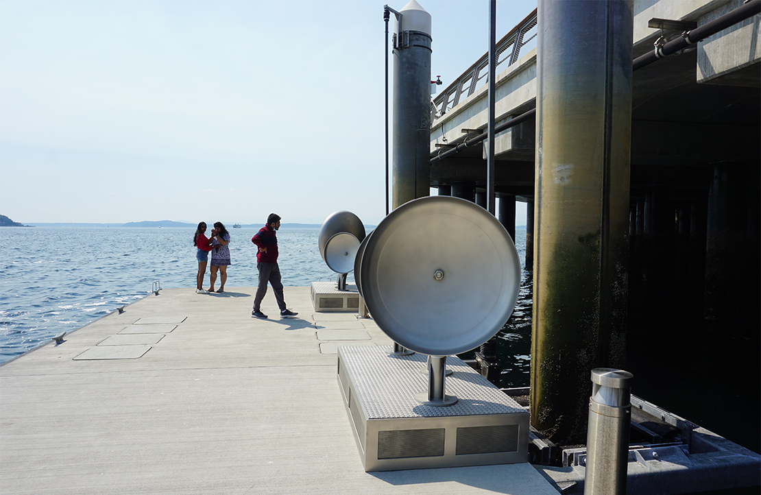 Land Buoy Bells was installed in June 2021. Photo courtesy of the Office of Arts & Culture